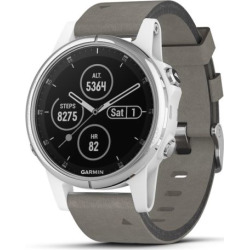 Garmin fenix 5 Plus Smartwatch Sapphire White with Suede Band