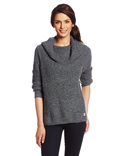 Carhartt Women's Dutton Sweater,Dark Heather Gray/Multi  (Closeout),Small