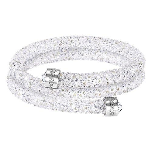 Swarovski Crystaldust Bangle Double (White Small)