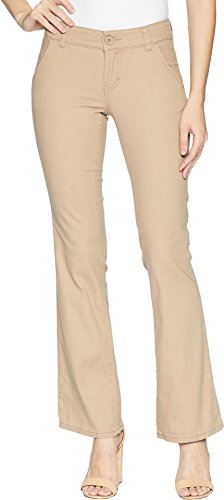 UNIONBAY Junior's Juniors Heather Slash Pocket Uniform Bootcut Pant, New Suntan, 5