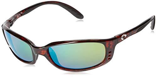 Costa del Mar Unisex-Adult Brine BR 10 OGMP Polarized Iridium Oval Sunglasses, Tortoise, 58.8 mm