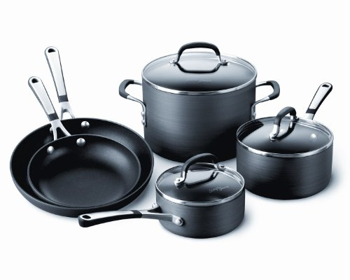 calphalon simply calphalon hard anodized nonstick 8 piece cookware set - Calphalon Simply Calphalon Hard-Anodized Nonstick 8-Piece Cookware Set