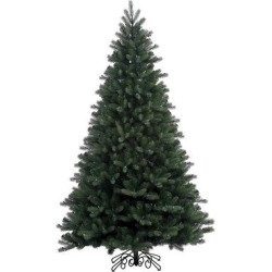 7.5ft Unlit Artificial Christmas Tree Noble Spruce, Green