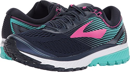Brooks Women's Ghost 10 Navy/Pink/Teal Green 8.5 B US