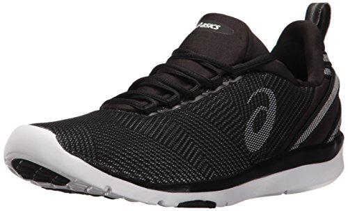 ASICS Women's Gel-Fit Sana 3 Cross-Trainer Shoe, Black/White/Silver, 8.5 M US