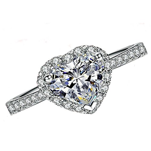 FAIRY COUPLE Cubic Zirconia Heart Shaped Ring R200(6)