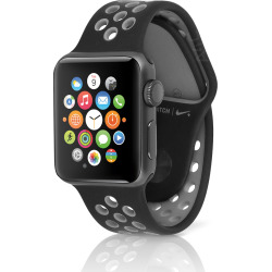 Apple Watch Nike+ 42mm Space Gray Case w/ Sport Band – Black (Scratch and Dent)