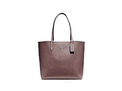 Coach F36609 Reversible PVC City Signature Tote (Oxblood Red)