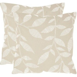 Beige May Set of 2 Throw Pillow (20″x20″) – Safavieh