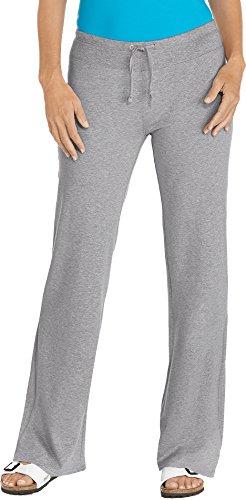 Coolibar UPF 50+ Women's Beach Pants – Sun Protective (Large- Grey Heather)