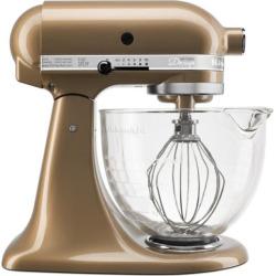 KitchenAid KSM155GB 5-qt. Tilt-Head Stand Mixer with Glass Bowl, Multicolor