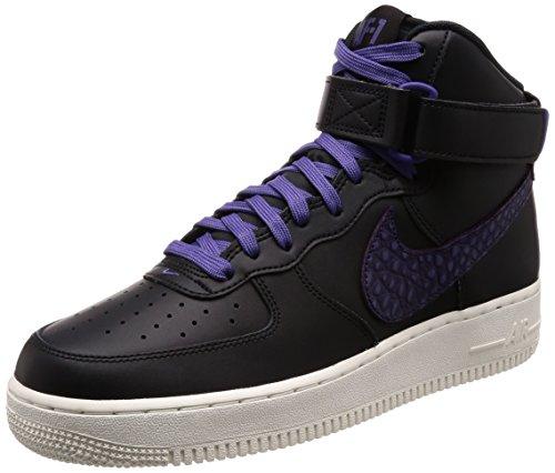Nike AIR Force 1 HIGH '07 LV8 Mens Fashion-Sneakers 806403-014_11 – Black/Court Purple-SAIL-Purple Dynasty