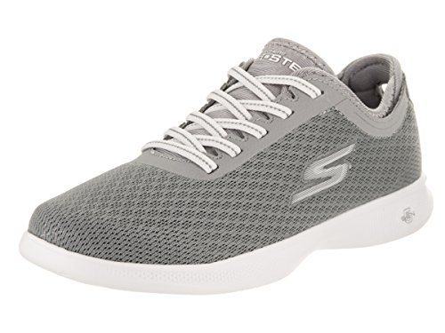 Skechers Performance Women's Go Step Lite-Agile Walking Shoe,Gray Mesh,5.5