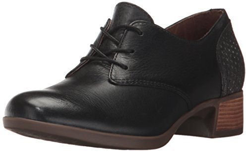 Dansko Women's Louise Oxford, Black Burnished Nappa, 39 EU/8.5-9 M US