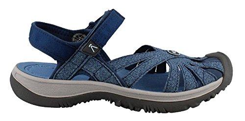 KEEN Women's Rose Sandal-W Opal/Provincial Blue, 8 M US