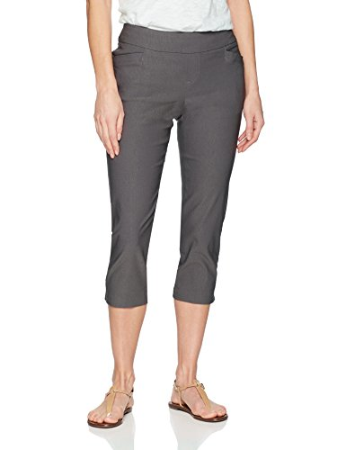 LEE Women's Modern Series Midrise Fit Elena Pull-On Capri Pant, Pavement, 18