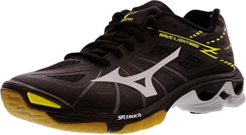 Mizuno Women's Wave Lightning Z WOMS BK-SL Volleyball Shoe, Black/Silver, 8 B(M) US