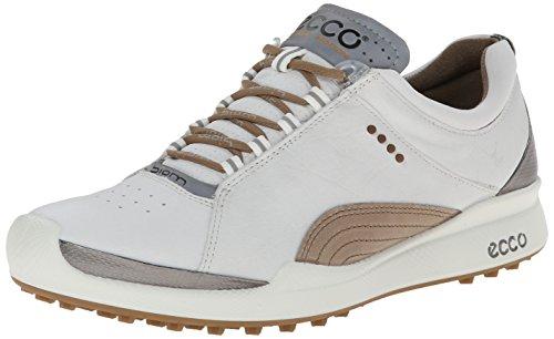 ECCO Women's Biom Hybrid Lace-Up Golf Shoe,White/Mineral,41 EU/10-10.5 M US