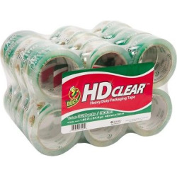 Duck Heavy-Duty Carton Packaging Tape, 1.88 x 55yds, Clear, 24/Pack