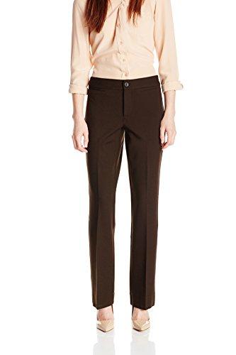 NYDJ Women's Petite Michele Trousers In Ponte Knit, Molasses, 4 Petite