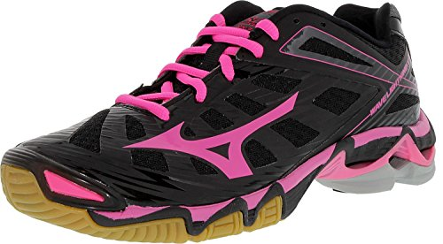Mizuno Women's Wave Lightning RX3 Volley Ball Shoe,Black/Pink,10 M US
