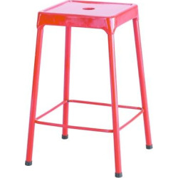 Safco Counter-Height Steel Stool, Red