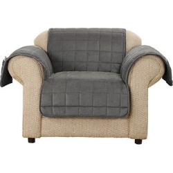 Velvet Nonskid Chair Pet Throw Carbon (Black) – Sure Fit