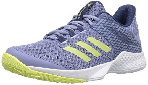adidas  Women's Adizero Club w Tennis Shoe, Chalk Blue/Semi Frozen Yellow/Noble Indigo, 10.5 M US