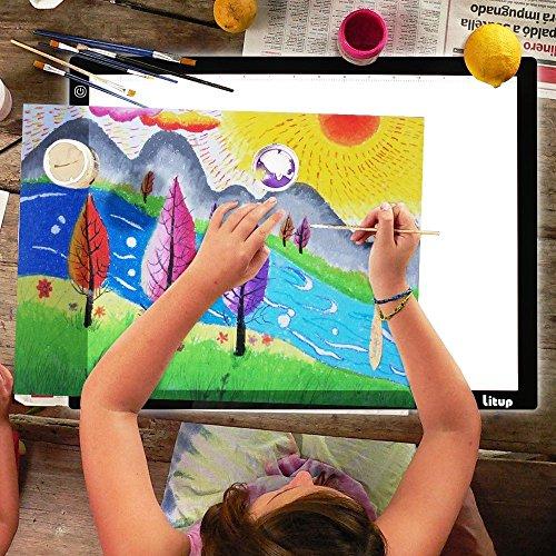 Litup LP3 A3 Light Box 18.86×14.21 Inch Light Pad Tracing Light Box Light Table Drawing Light Board for Art Animation Sketching —LP3