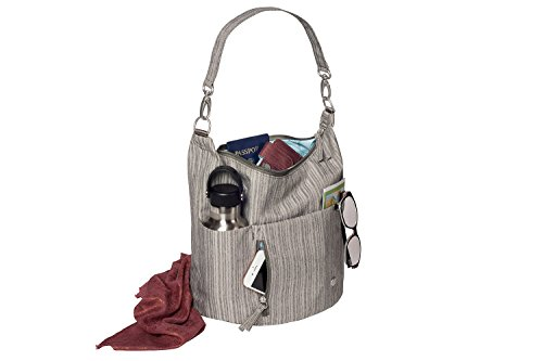 Haiku Women's Ascend Hobo Shoulder Bag, 10″ x 10.75″ x 7.5″, Grey