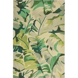 Capri Palm Leaf Rug – Green – (2'X8′ Runner) – Liora Manne