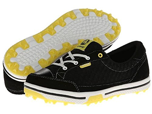 Crocs Womens Women's 15372 Drayden Golf Shoe,Black/Burst,4 M US