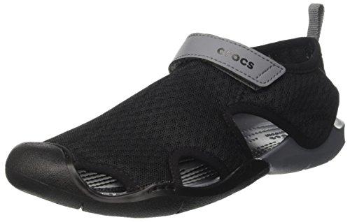 Crocs Women's Swiftwater Mesh Sandal W Flat, Black, 8 M US