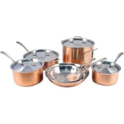 calphalon copper tri ply 10 pc cookware set multicolor - Calphalon Copper Tri-Ply 10-pc. Cookware Set, Multicolor