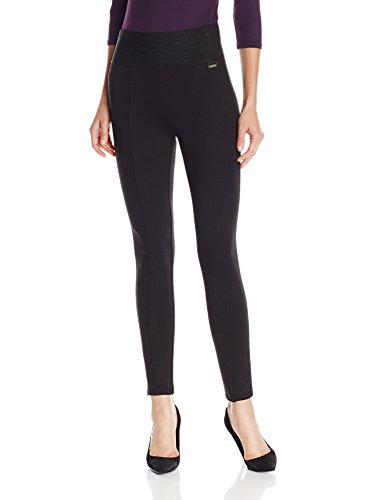 Calvin Klein Women's Modern Essential Power Stretch Legging with Wide Waist Band, Black, Medium