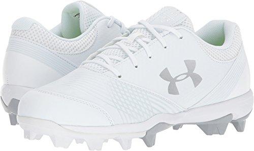 Under Armour Women's Glyde RM Softball Shoe, (100)/White, 5.5