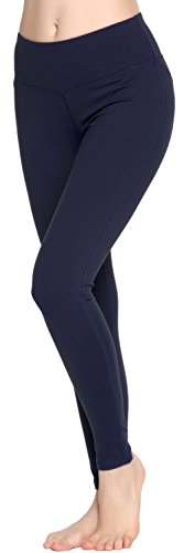 Oalka Women Power Flex Yoga Pants Workout Running Leggings Navy XL