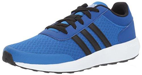 adidas Boys' CF Race K Sneaker, Blue/Black/Collegiate Royal, 4.5 Medium US Little Kid