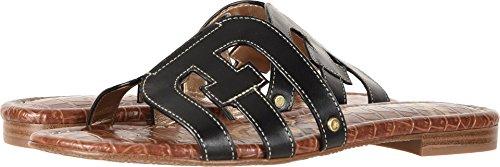 Sam Edelman Women's Bay Slide Sandal, Black Leather, 9 M US