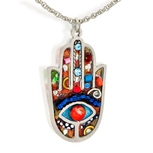 Seeka Vibrant Hamsa Necklace to Protect from the Evil Eye, Curated by Artazia Collection N2412M
