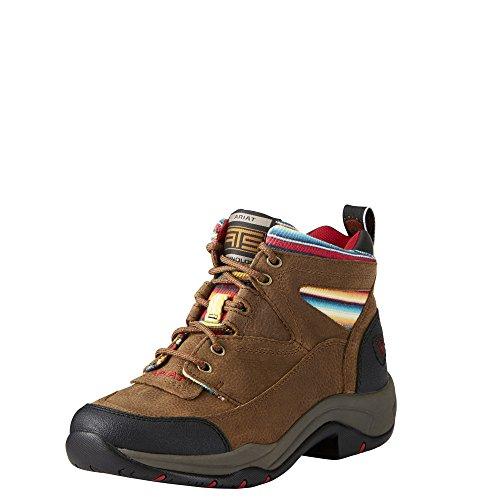 Ariat Women's Terrain Work Boot, Walnut/Serape, 7.5 C US