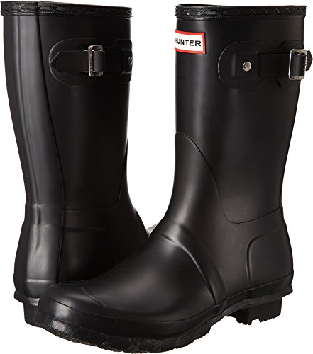 Hunter Womens Original Short Black Matte Rain Boot – 8 B(M) US