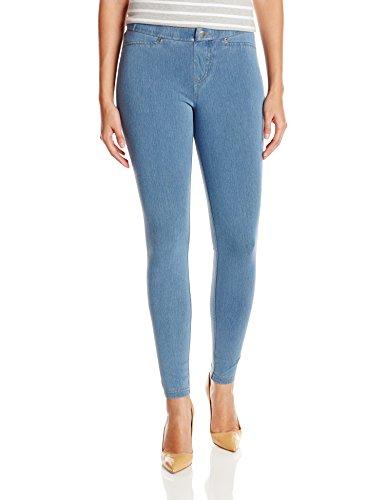 HUE Women's Plus Size Super Smooth Denim Leggings, Vintage Wash, XXL