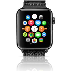 Apple Watch Gen 1 w/ 42mm Space Black Stainless Steel Case & Space Black Milanese Loop (Refurbished)