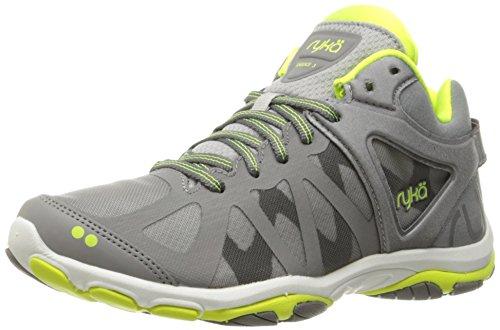 Ryka Women's Enhance 3 Cross-Trainer Shoe, Grey/Lime, 8 M US