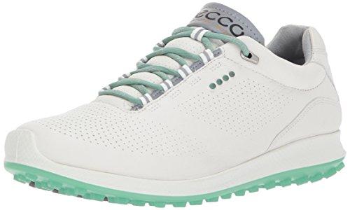 ECCO Women's Biom Hybrid 2 Perforated Golf Shoe, White/Granite Green, 38 EU/7/7.5 M US