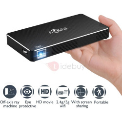 TouMei C800 Pico Projector Mobile Video Projector Rechargeable HDMI & WIFI Portable Video Home Theater Support 1080P Home Cinema