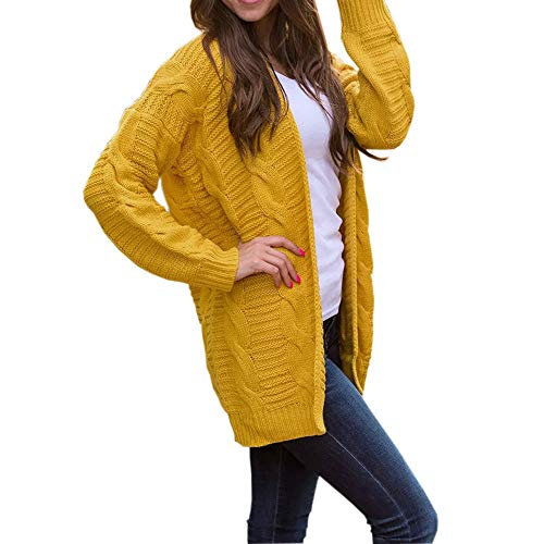 StyleV-shirts Womens Open Front Chunky Cardigan Autumn Long Sleeve Knitwear Sweaters Outerwear