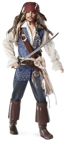 Barbie Collector Pirates of The Caribbean: On Stranger Tides Captain Jack Sparrow Doll