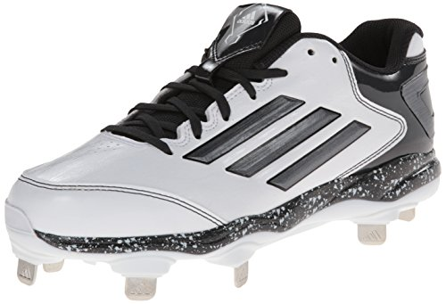 adidas Performance Women's PowerAlley 2 W Softball Cleat, White/Carbon/Black, 6 M US